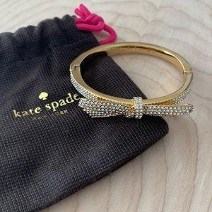 Kate Spade jewel bow gold bracelet